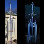 """Pecker Head"" Wind Chime 14'x48""x48"" Guitar Art"